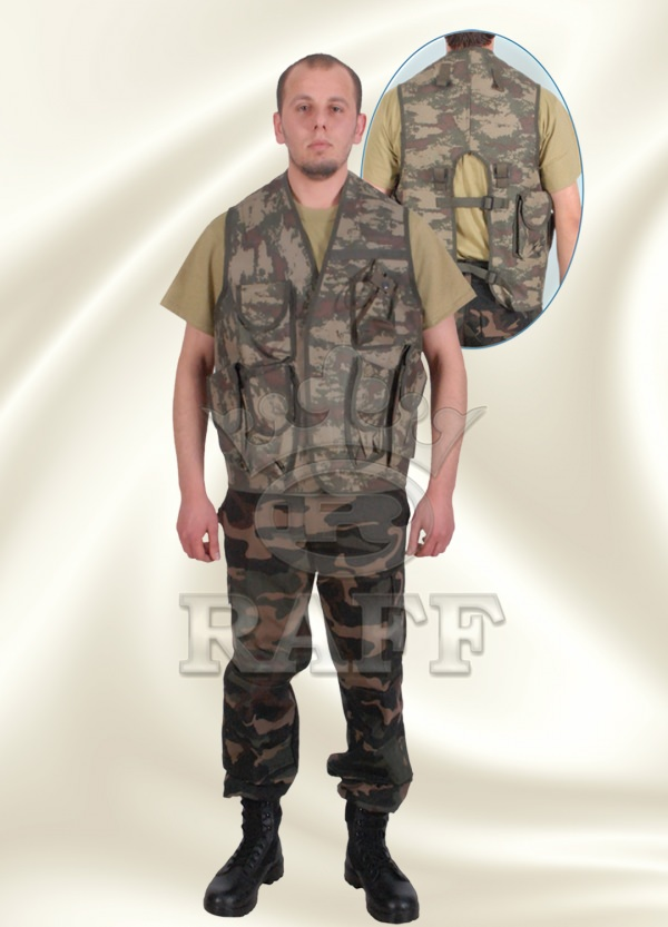 GILET TACTIQUE CAMOUFLAGE 070